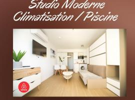 Studio Moderne Piscine Proche Plages, family hotel in Pérols