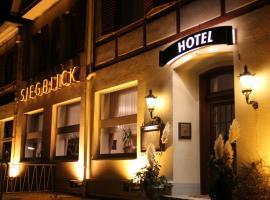 Viesnīca Hotel Restaurant Siegblick pilsētā Zīgburga