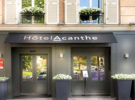 Hotel Acanthe - Boulogne Billancourt, hotel near Porte de Saint-Cloud Metro Station, Boulogne-Billancourt