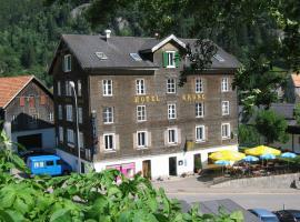 Chalet Hotel Krone, hotel near Gotthard Road Tunnel - North Portal, Göschenen