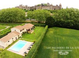 Chambres d'hôtes Les Palmiers de la Cité, hotel near Perpignan IUT University - Carcassonne Campus, Carcassonne