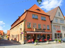 Hocher Hotel & Cafe, hotel a Rothenburg ob der Tauber