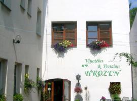 Penzion a Vinoteka Hrozen, hotel in Kroměříž