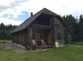 Viesnīca Vällamäe talu puhkemaja pilsētā Haanja, netālu no apskates objekta Lielais Munameģis