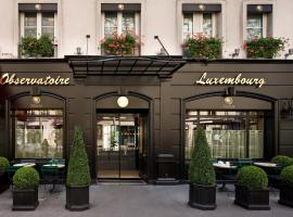 Hotel Observatoire Luxembourg, hotel in Paris