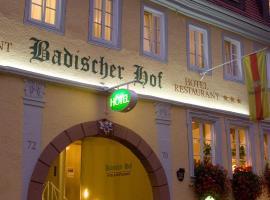 Badischer Hof, Hotel in Tauberbischofsheim