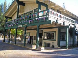 Yosemite Lakes River Yurt 25, resort village in Harden Flat
