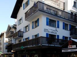 Hotel Garni Testa Grigia, hotel Zermattban