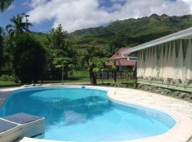 Fare Apitia, hotel perto de Campo de golfe Moorea Green Pearl, Maharepa