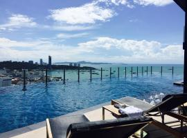 Pattaya Beach Sea View Rooftop Pool Resort, hotel in Pattaya