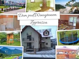 Dom pod Winogronem, homestay in Szczawnica