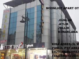 Moonlight Apart Otel, hotel in Erzincan