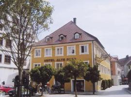 Hotel Alte Post, отель в городе Ванген-им-Алльгой