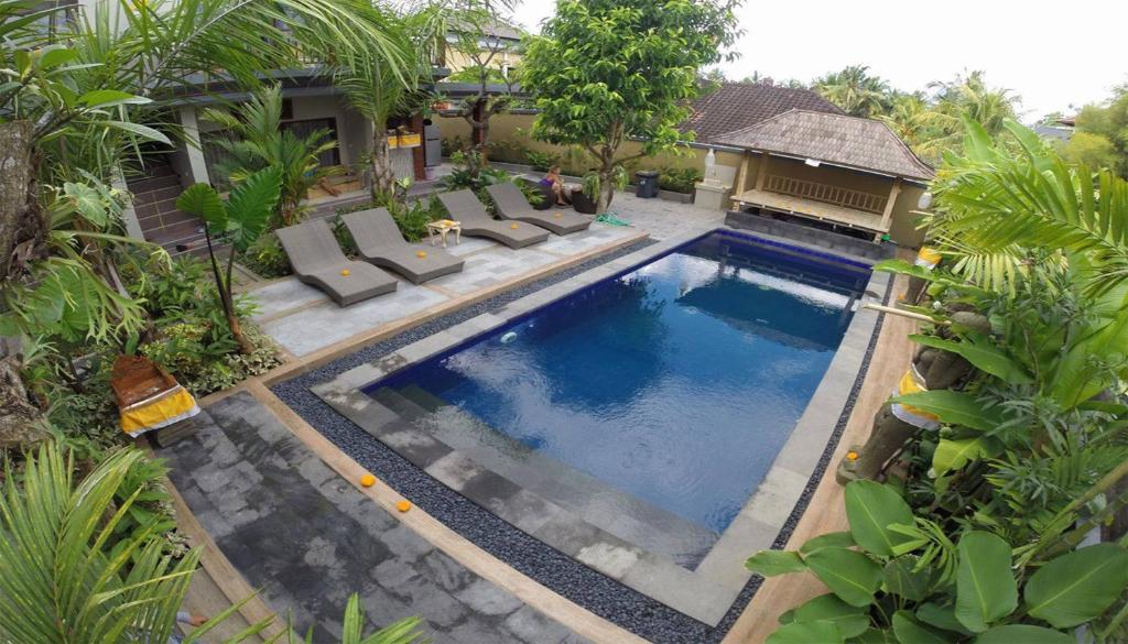 Der Swimmingpool an oder in der Nähe von Lucky Family Cottage