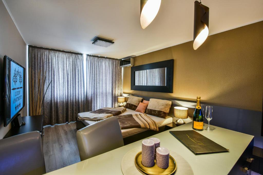 Posezení v ubytování Luxury Apartments Ostrava