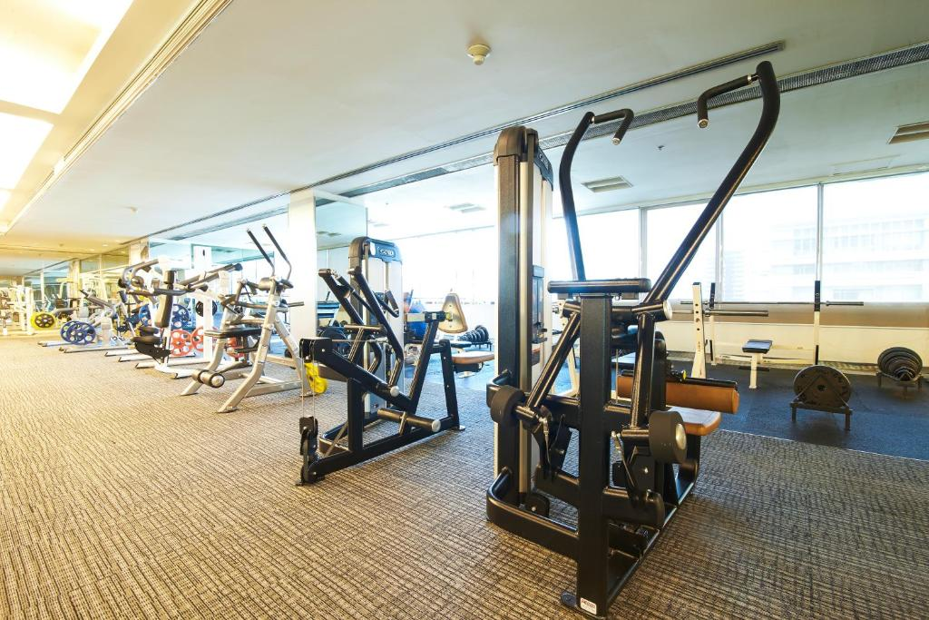 The fitness center and/or fitness facilities at Pathumwan Princess Hotel - SHA Certified