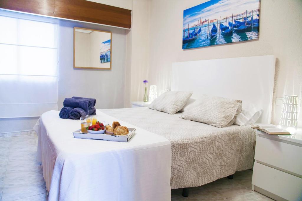Cama o camas de una habitación en Apartamento Cardenal