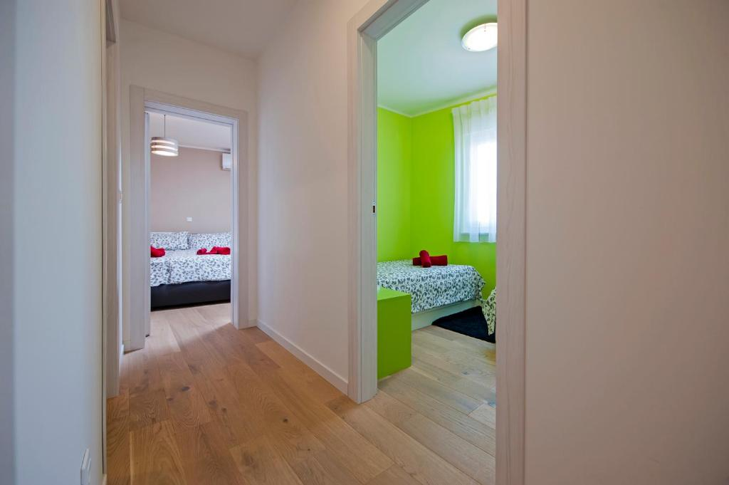 A bed or beds in a room at Apartment Panoss