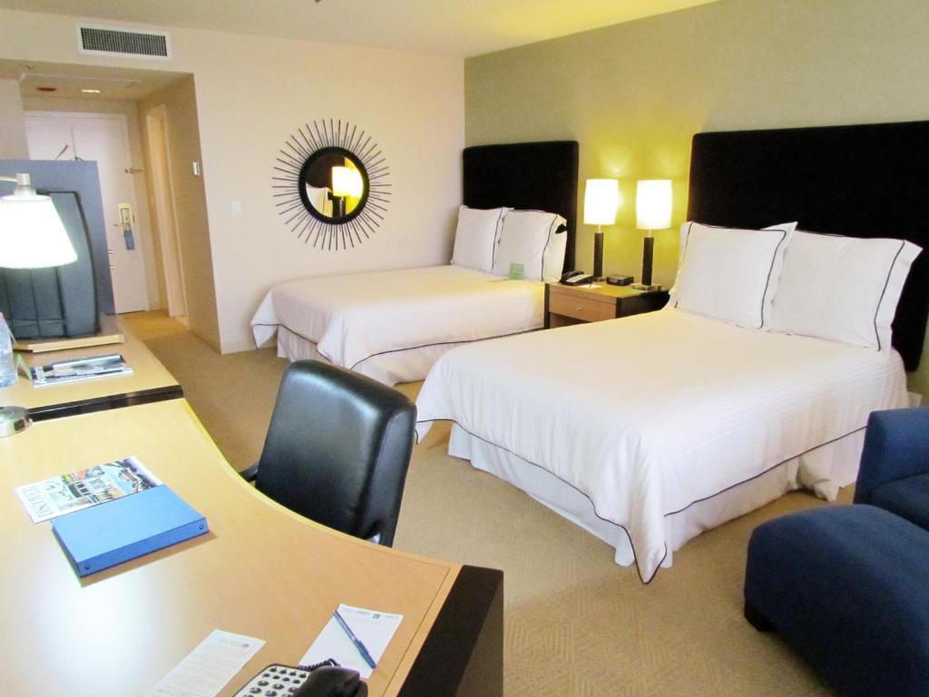 A room at the Pacific Palms Resort and Golf Club.