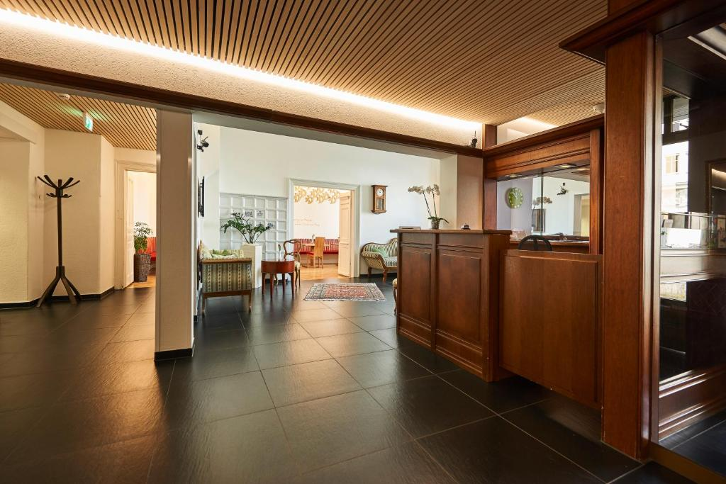 The lobby or reception area at Hotel Garni Bodensee