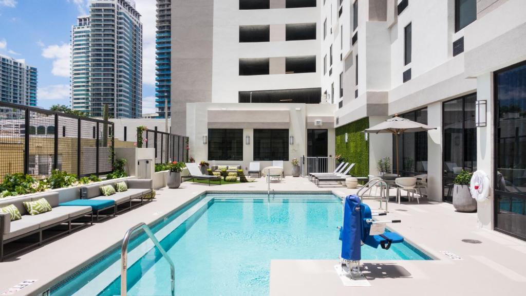 The swimming pool at or near Hampton Inn & Suites Miami Wynwood Design District, FL