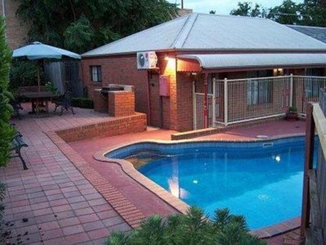 The swimming pool at or near Bendigo Haymarket Motor Inn