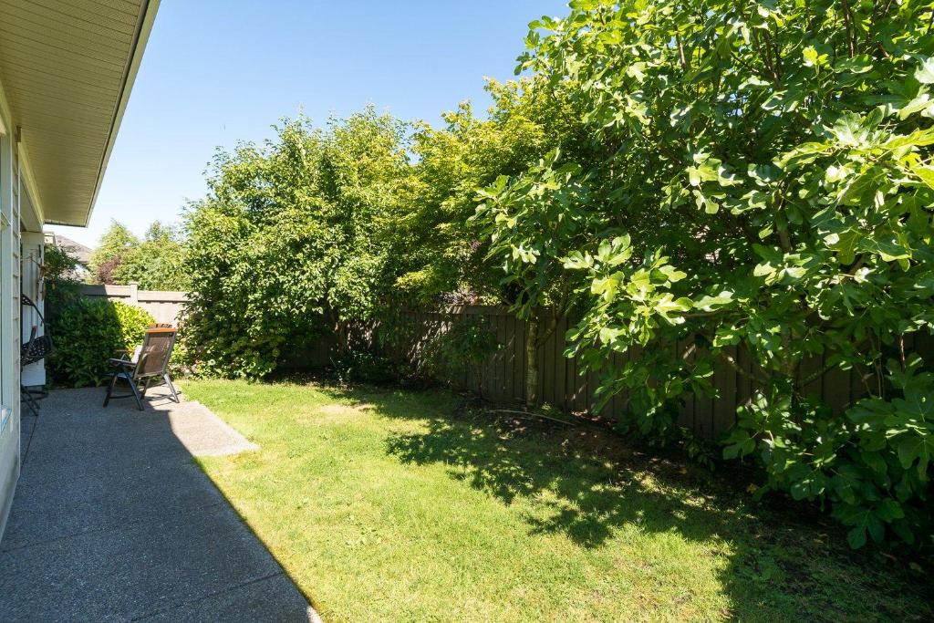 A garden outside Go House
