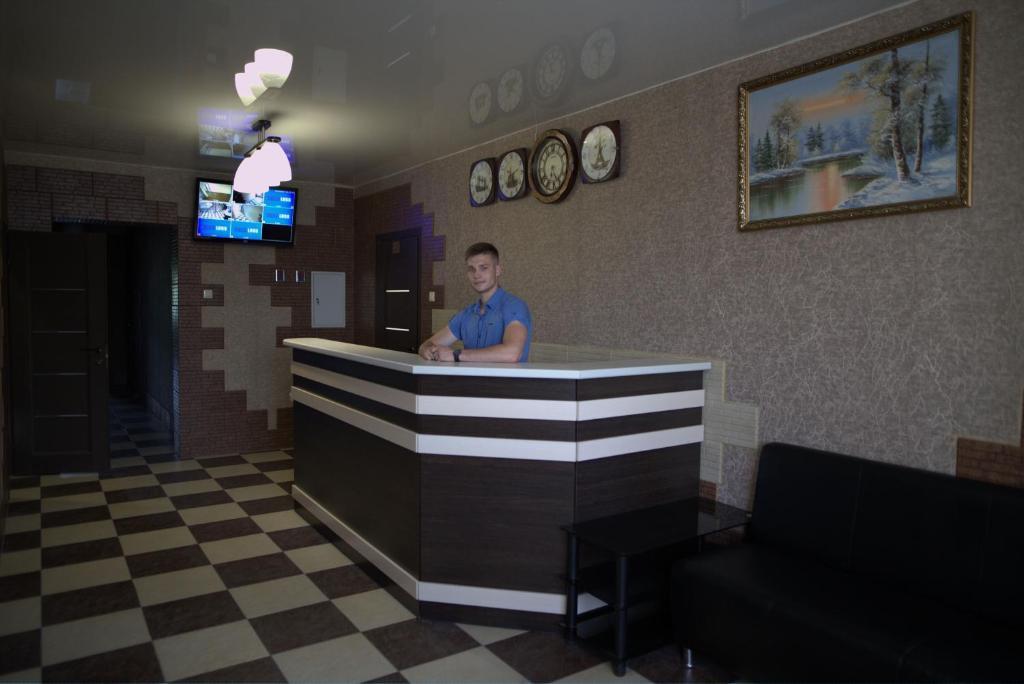Лобби или стойка регистрации в Автобанька Привал