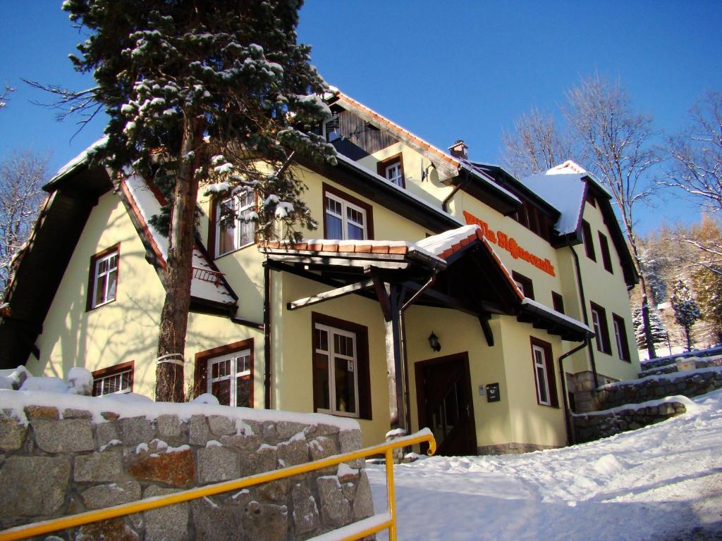Obiekt Willa Słonecznik zimą