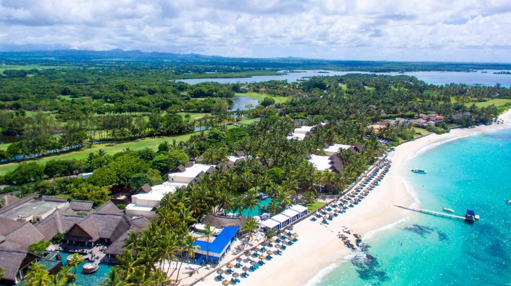 A bird's-eye view of Constance Belle Mare Plage