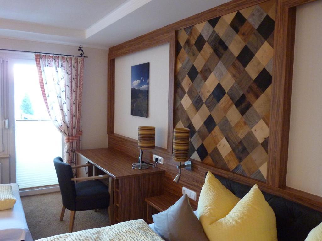 Ein Sitzbereich in der Unterkunft Gästehaus Glätzle