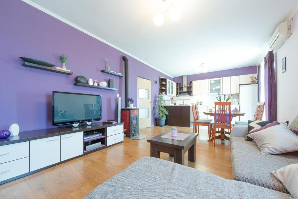 A television and/or entertainment centre at Apartments with a parking space Buici, Dubrovnik - 12987