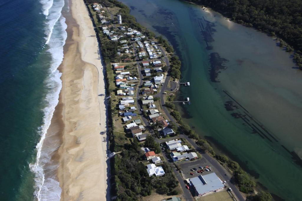 A bird's-eye view of Wooli Holiday Units