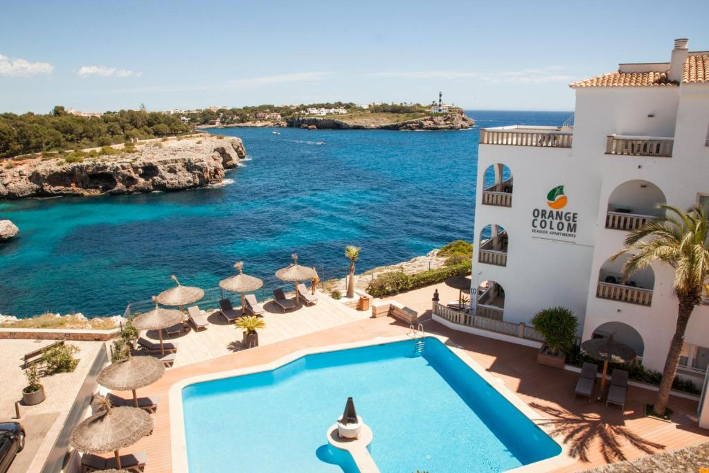 A view of the pool at Orange Colom - Seaside Apartments or nearby