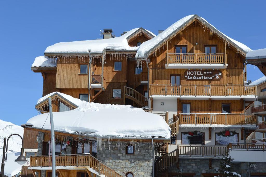 Hotel Le Gentiana durante l'inverno
