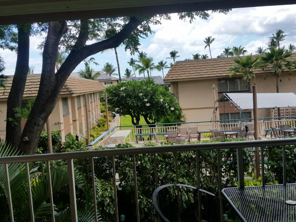 A balcony or terrace at Kihei Kai Nani Resort