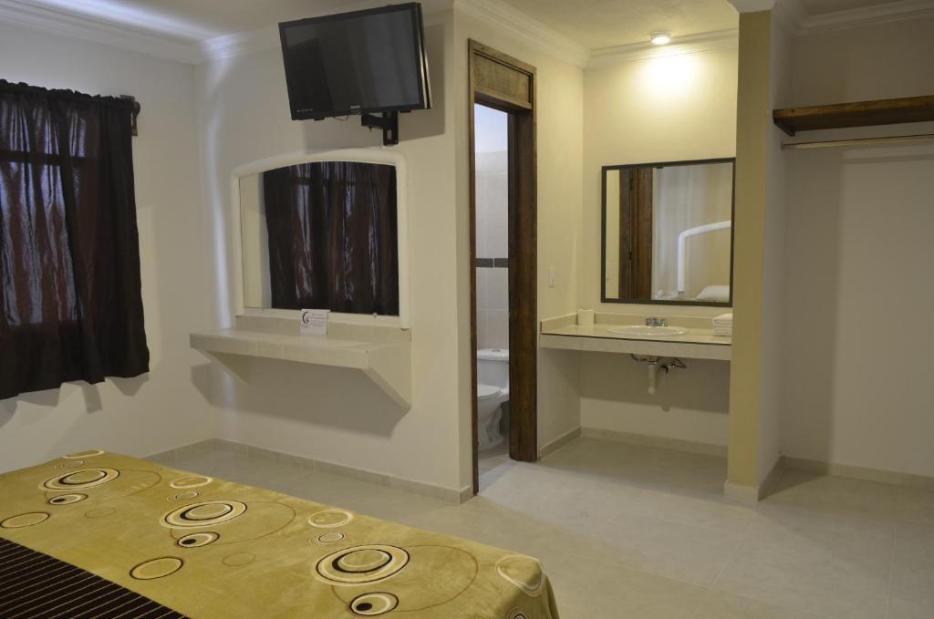 Cama o camas de una habitación en Villa Meztli