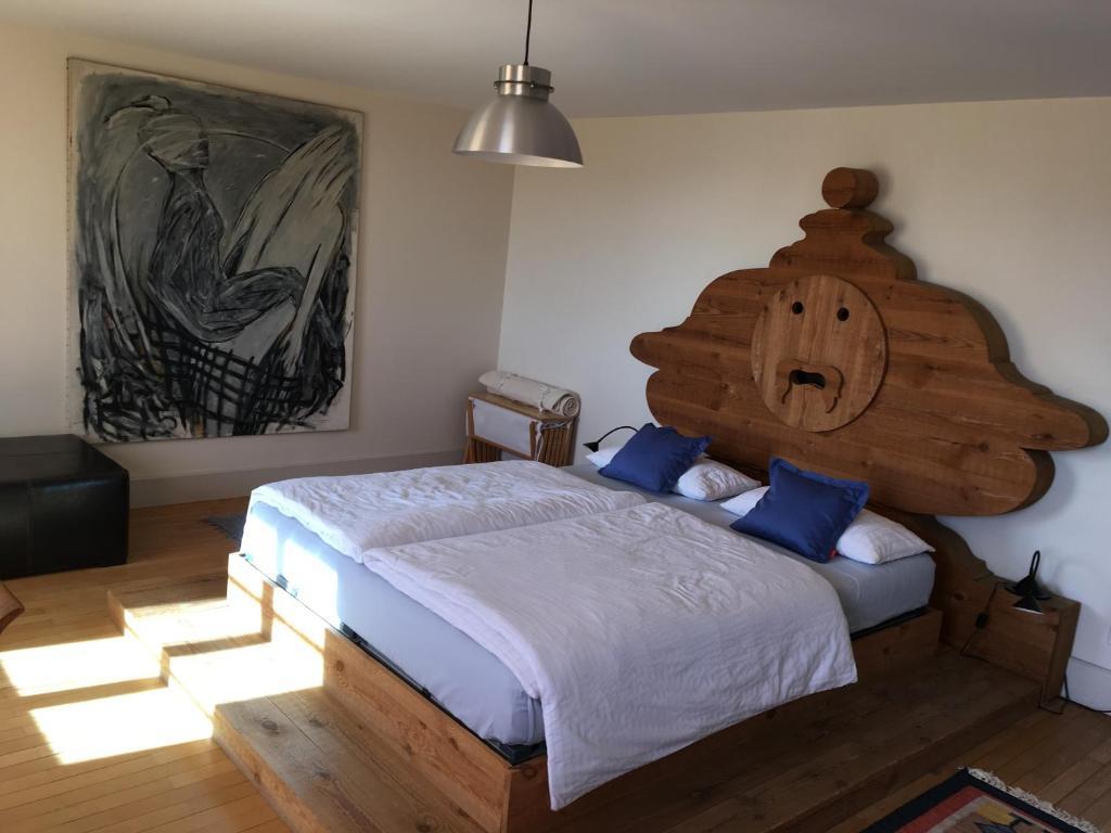Ein Bett oder Betten in einem Zimmer der Unterkunft Nickhof B&B Resort