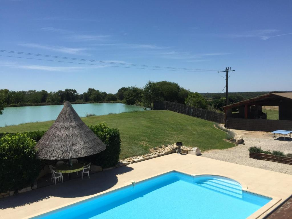 A view of the pool at Le Boursignoux or nearby