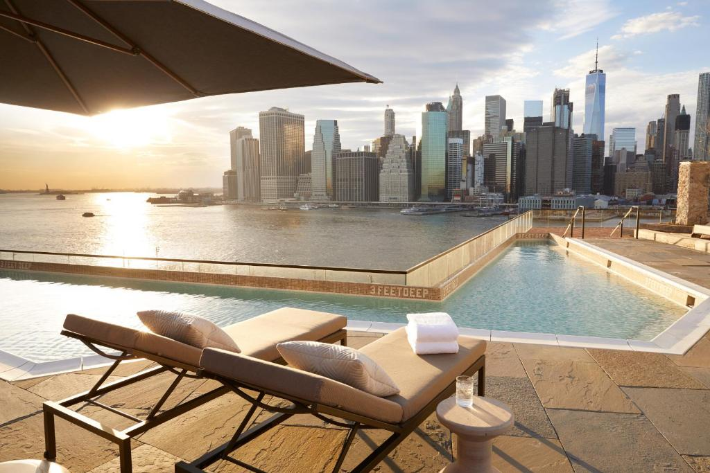 The swimming pool at or close to 1 Hotel Brooklyn Bridge