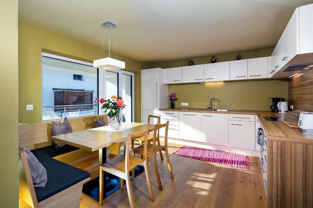 Küche/Küchenzeile in der Unterkunft Ferienraum Pfunds