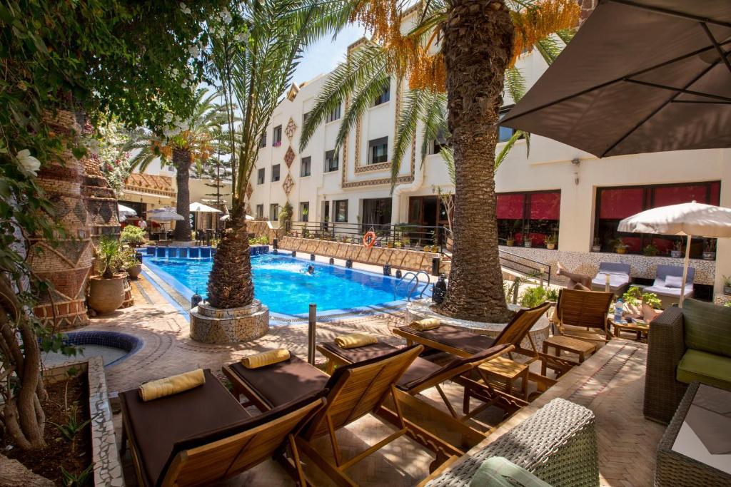 The swimming pool at or near Atlantic Hotel Agadir