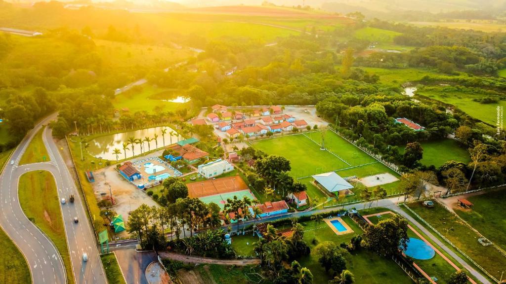 Uma vista aérea de Hotel Fazenda 7 Belo