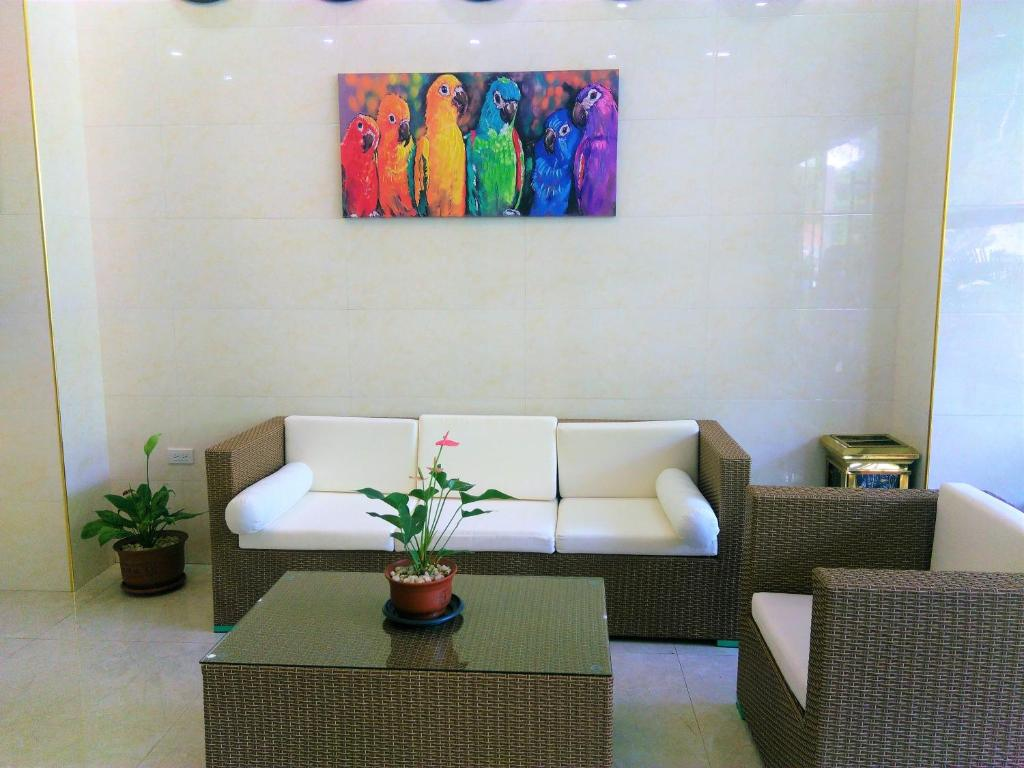 A seating area at One El Nido Suite