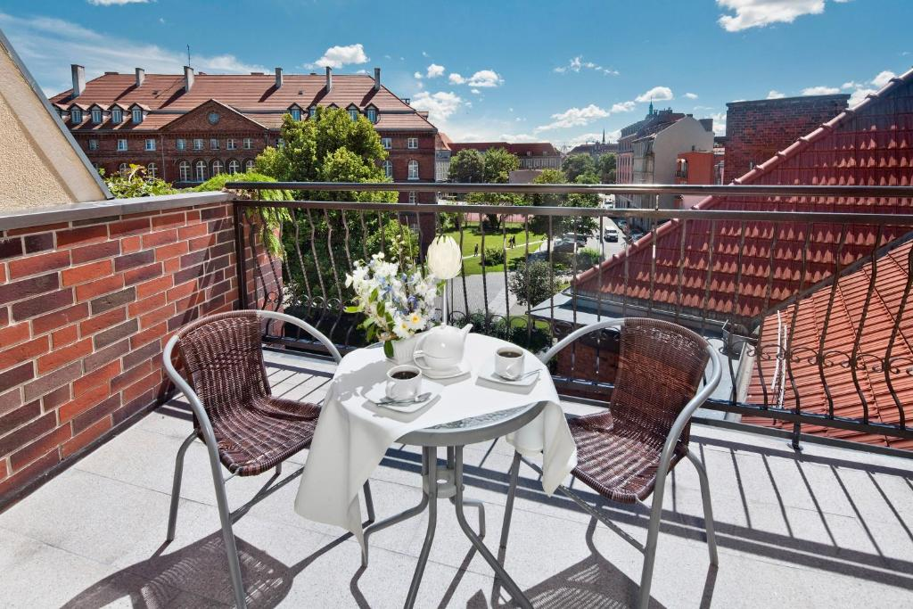 A balcony or terrace at Hotel Bonum Old Town