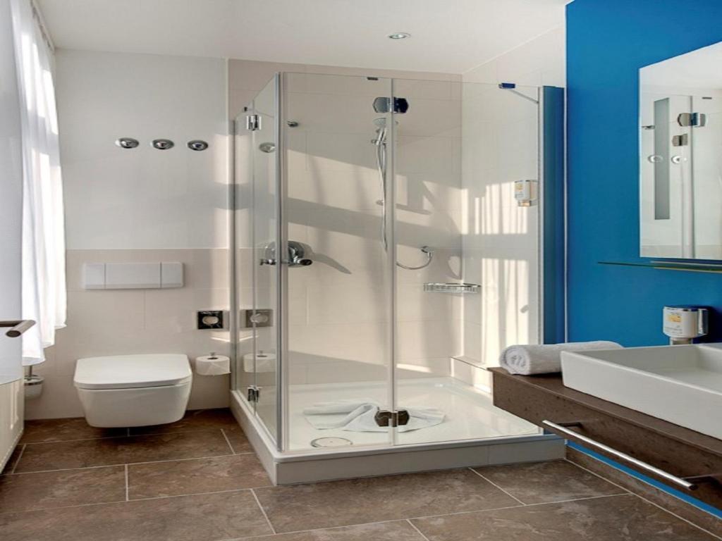 Ein Badezimmer in der Unterkunft Hotel Magnetberg