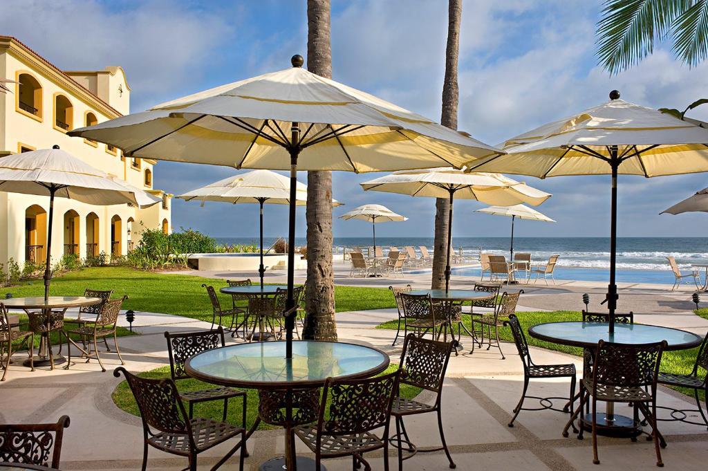 The private beach at the Las Villas Spa & Golf Resort.