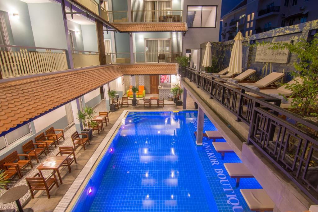 The swimming pool at or near Chhay Long Angkor Boutique Hotel Siem Reap