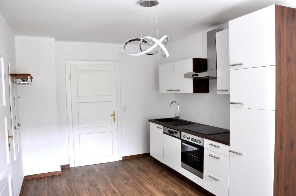 Küche/Küchenzeile in der Unterkunft Romeo Caviar Suiten