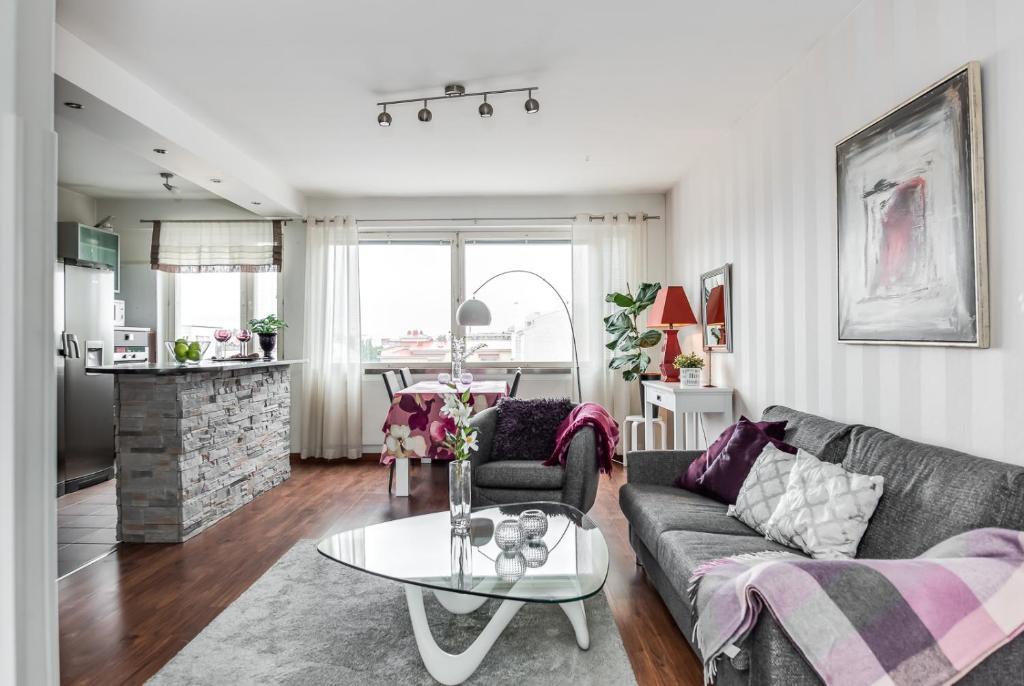 Oleskelutila majoituspaikassa Apartment Pohjantähti